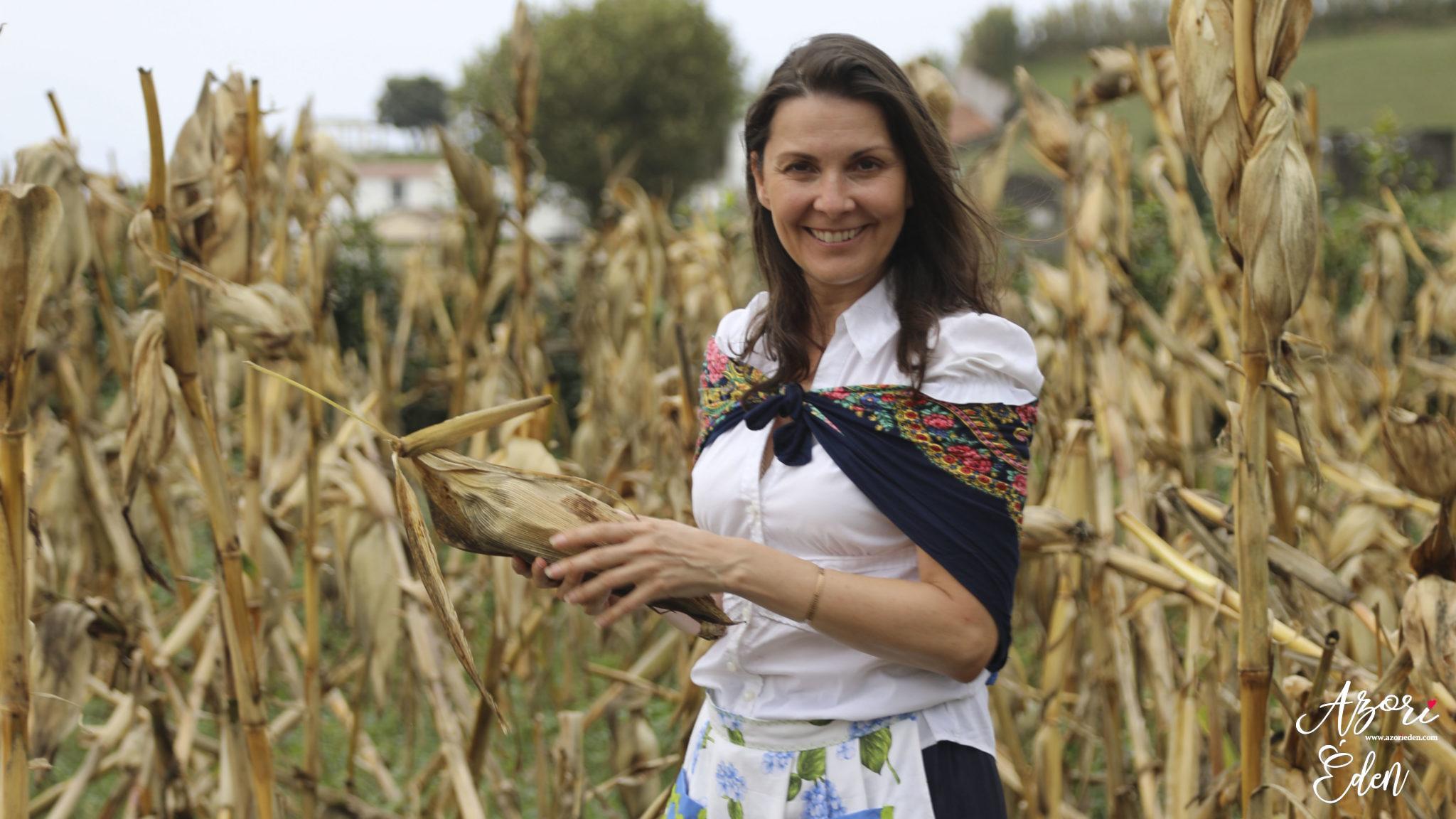 Kukoricatörés az Azori-szigeteken